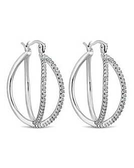 Jon Richard double row hoop earring
