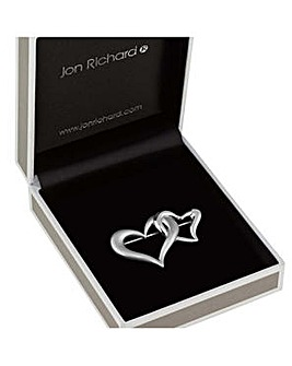 Jon Richard linked heart brooch