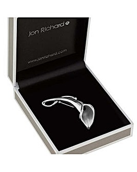 Jon Richard silver tulip brooch