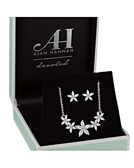 Alan Hannah floral jewellery set