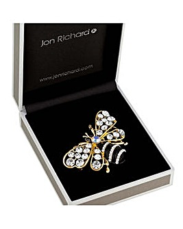 Jon Richard crystal bee brooch