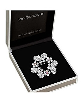 Jon Richard floral wreath brooch