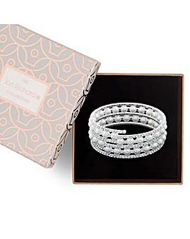 Jon Richard pearl crystal coil bracelet