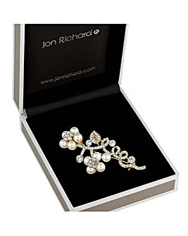 Jon Richard floral twist brooch