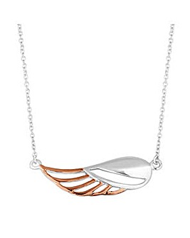Simply Silver angel wing necklace