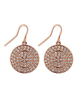 Jon Richard micro pave disc earring