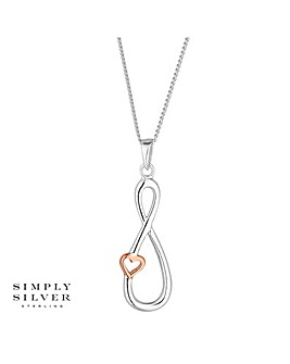 Simply Silver infinity heart necklace
