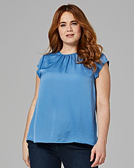 Gathered Front Shell Top