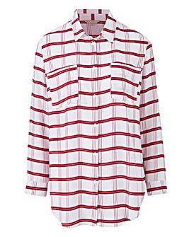 Berry Check Oversized Shirt
