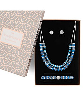 Jon Richard Blue Bead Jewellery Set