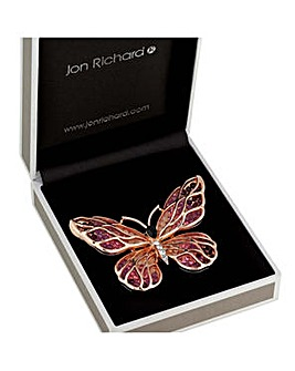 Jon Richard open butterfly brooch