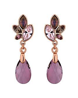 Jon Richard pink tonal drop earring