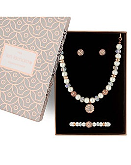Jon Richard pearl jewellery set