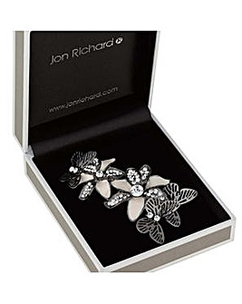Jon Richard Floral butterfly brooch