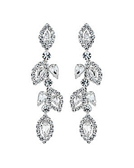 Jon Richard diamante leaf earring