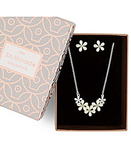 Jon Richard floral jewellery set