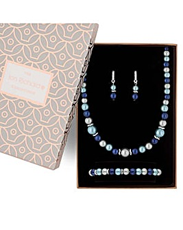 Jon Richard Blue Pearl Jewellery Set