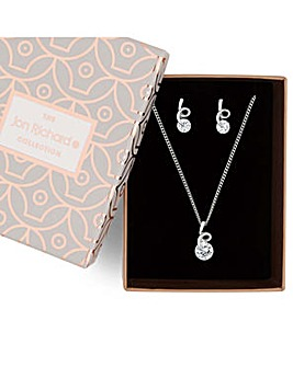 Jon Richard swirl top jewellery set