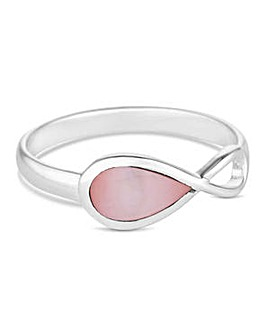 Simply Silver pink infinity ring