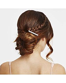 Mood crystal and pearl hair comb set
