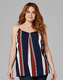 Multi Stripe Strappy Cami Top