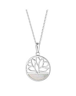 Simply Silver lotus flower necklace