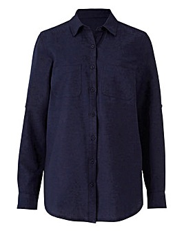 Linen Shirt With Roll Up Sleeves