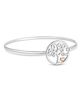 Simply Silver tree of life bangle