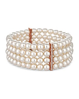 Jon Richard triple row pearl bracelet