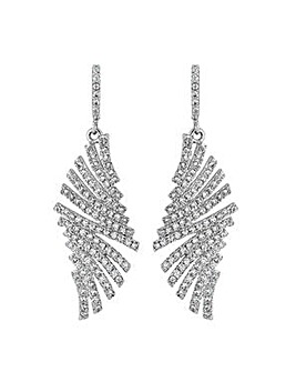 Jon Richard pave fan earring