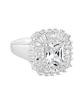 Jon Richard crystal baguette ring