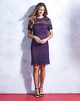 Purple/ Indigo Lace Shift Dress