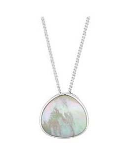Simply Silver mother of pearl necklace
