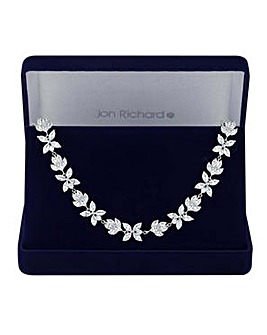 Jon Richard floral choker necklace