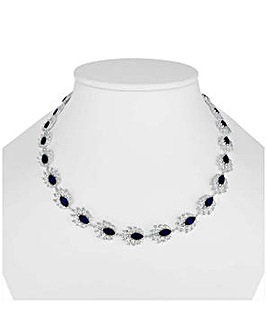 Alan Hannah blue floral necklace