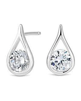 Simply Silver teardrop pearl earring