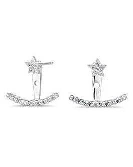 Simply Silver star ear hugger earring