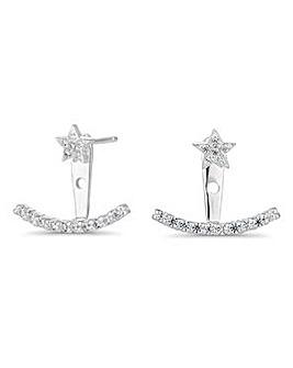 Simply Silver star ear hugger earring