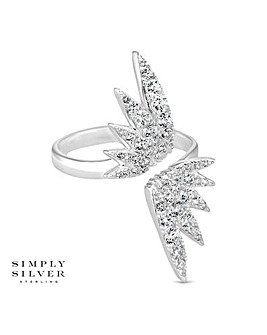 Simply Silver open wing ring