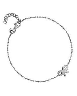 Simply Silver infinity charm bracelet