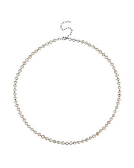 Simply Silver freshwater pearl necklace
