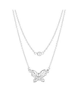 Simply Silver butterfly necklace
