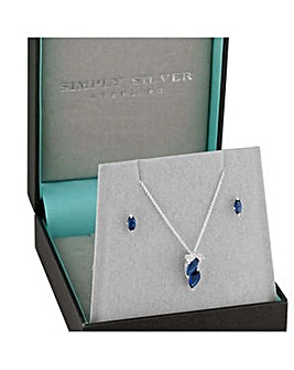 Simply Silver navette jewellery set