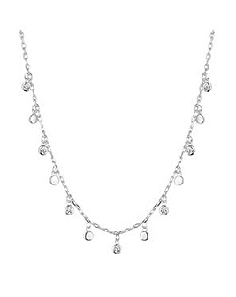 Simply Silver charm cluster necklace