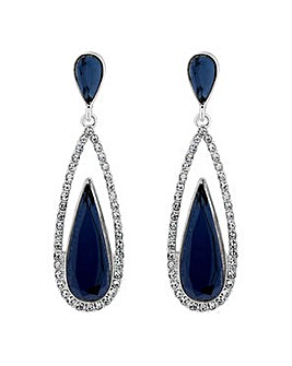Jon Richard elongated peardrop earring