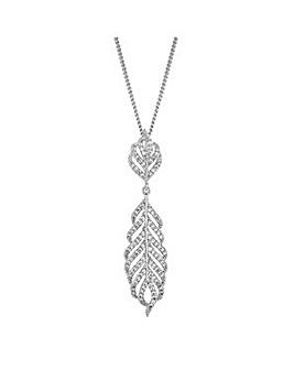 Jon Richard crystal feather necklace