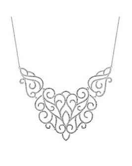 Jon Richard pave cut out necklace