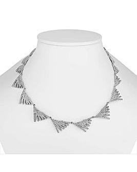 Jon Richard pave fan necklace