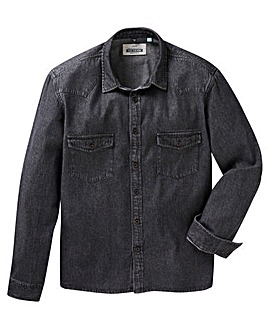 Jacamo L/S Denim Western Shirt Long