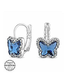 Jon Richard pave mini butterfly earring